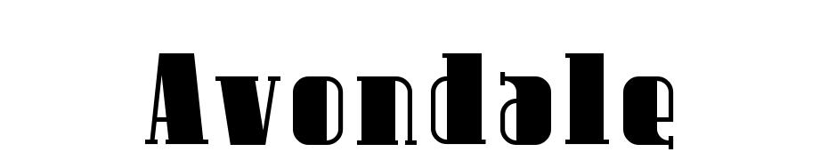 Avondale cкачать шрифт бесплатно