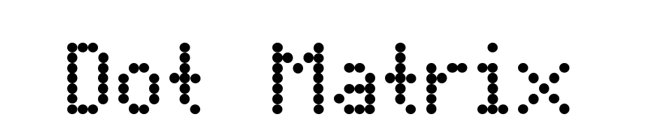 Dot Matrix Font Download Free