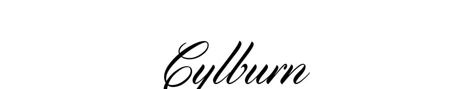Cylburn cкачати шрифт безкоштовно