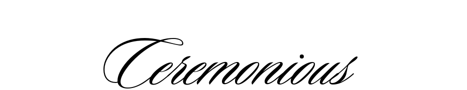 Ceremonious One Font Download Free